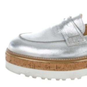 Hogan Metallic Platform Loafers